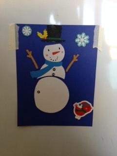 snowman magnet 1